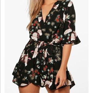 NEW Boohoo Plus Size Romper Playsuit